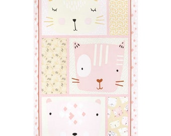 "Panel, Little Friends, 24"" X 44"", (60cm x 115cm), Bernartex , 05080, col 01, Multiple quantity cut 1 piece, 100% Cotton"