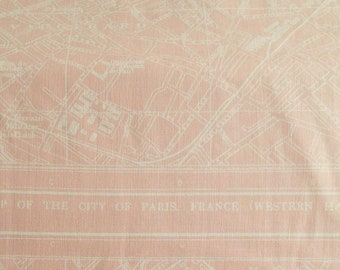 City map, Paris, Light pink, Couturière, 8849, Riley Blake