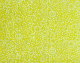 Flowers, Yellow, Meadow Wildlife, 30190405, col 04, Camelot Fabrics, cotton quilt, cotton designer