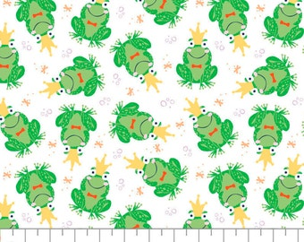 Frog, prince, Once Upon a Time, 91190205, col 01, Camelot Fabrics, cotton, cotton quilt, cotton designer