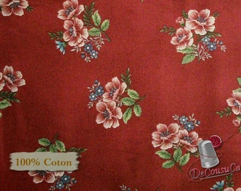 Flowers of provence, by Mary Carey of Holly Quilt Designs, Henry Glass, #8853, 100% Cotton, (Reg 3.99 - 17.99)