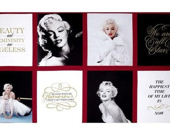 "Marilyn Monroe, Panel, 24""X44"", Robert Kaufman, 100% Cotton"