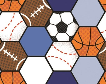 Volleyball, soccer, football, All Star Sports, 61190201, col 01, Camelot Fabrics, cotton, cotton quilt, cotton designer