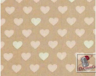 END OF BOLT, With love, 4142003, col 03, Camelot Cotton, beige, Cotton, Pre-Cut