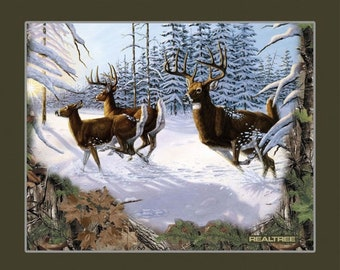 "Roe, 36""X44"", (90cmX115cm), 10079, Sykel Enreprises, Realtree, Multiple quantity cut in one piece, 100% Cotton, (Reg 15.96)"