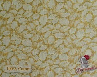 Leaves, Cream, Honey Beige, Christmas Memories, Washington, 100% Cotton