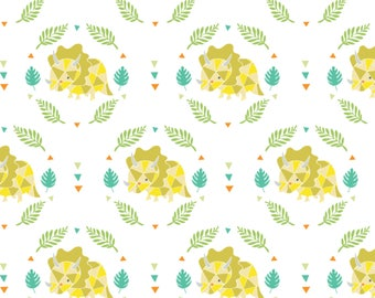 Triceratops, 6141706-01, You are Dino-Mite, Camelot Fabrics, multiple quantity cut in one piece, 100% Cotton