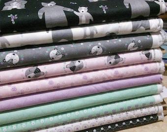 Bundle, 10 prints, Bear Hugs of Camelot Fabrics
