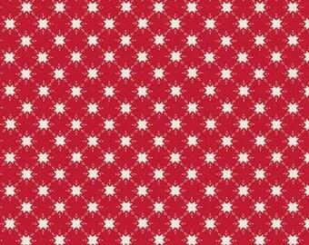 Christmas Adventure, Riley Blake Designs, Christmas fabric 100% cotton, snowflake, #10735 SCARLET