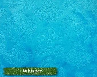 Whisper, 1/2 mètre, 100% polyester, Turquoise, 150cm, many 1/2 metre cut in 1 piece