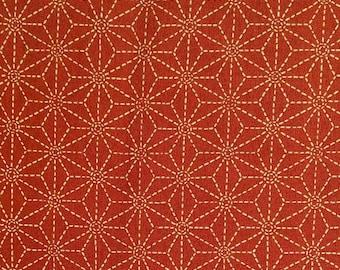 Star, beige, dark orange background, Sakura, 16027, Sevenberry, cotton, cotton quilt, cotton designer
