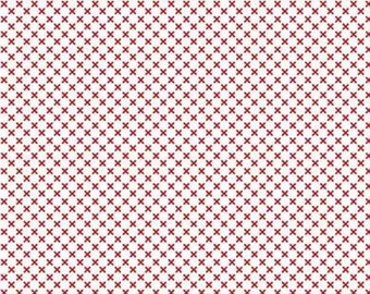Red and white, 220 RED, Kisses of Riley Blake, cotton quilt, cotton designer