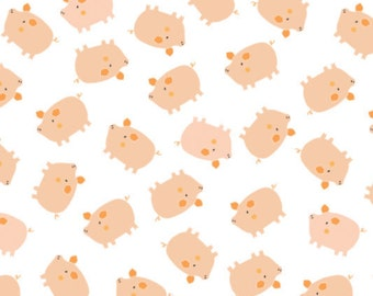 Pigs in white, 21170705, 02, Cluck, Moo, Oink, Camelot Fabrics, 100% Cotton, quilt cotton