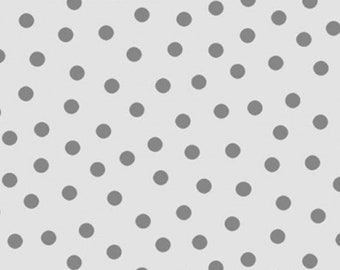 White-Gray, dot gray, Gray Matters, 26799, P & B Textiles, 100% Cotton