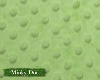 Minky Dot, Light olive, 100% polyester, 150cm, (60in), multiple quantity cut in one pièce,
