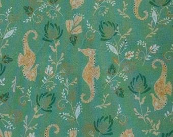 Hyppocampe, 21180301, col 02, Beachside Pretty, Oceanic Garden, Camelot Fabrics, cotton, cotton quilt, cotton designer