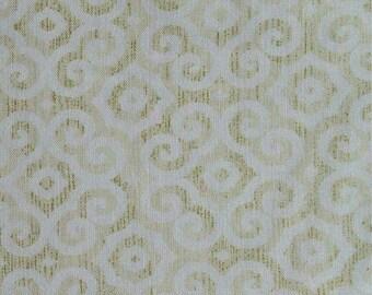 Natalia, ivory, Beige, 4985, Timeless Treasures, cotton, cotton quilt, cotton designer