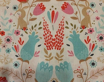 END OF BOLT, Studioe, Beautiful Garden Girl, fabric, cotton