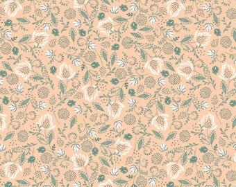 Flowers, beige, 21180304, col 04, Beachside Pretty, Oceanic Garden, Camelot Fabrics, cotton, cotton quilt, cotton designer