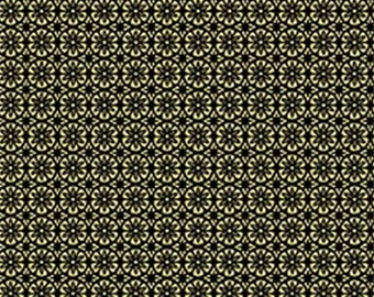 Flower, Gold metallic, black, Metallic Mixers, Benartex, 7720M, cotton, cotton quilt, cotton designer