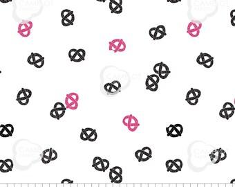 Pretzels, white, Mod Blocks, 27180107, col 01, Camelot Fabrics, 100% Cotton, quilt cotton