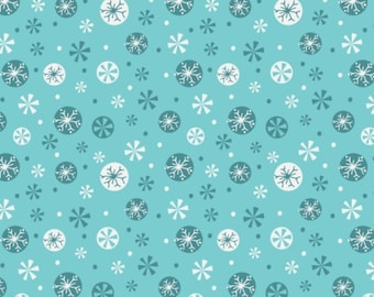 Snowflakes, blue, 61170104, Camelot Fabrics, multiple quantity cut in one piece, 100% Cotton, (Reg 2.99-17.99)