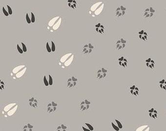 Animal Paw Prints, Light Gray, Timberland, 10332, Riley Blake, cotton quilt, cotton designer, (Reg 3.76-21.91)