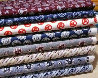 Bundle, 8 motifs, Fabric Avengers of Camelot Fabrics, quilt cotton