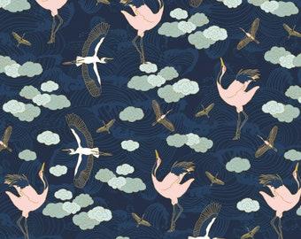 Birds, 29180201, col 01, Mistic Cranes, Camelot Fabric, quilt cotton