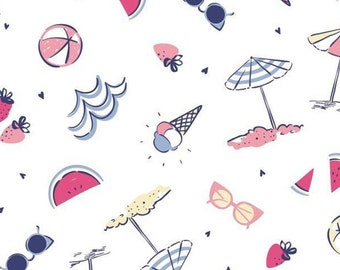 Parasol, sunglasses, Summer Days, Laura Ashley, 71190304, col 01, Camelot Fabrics, cotton, cotton quilt, cotton designer