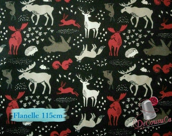 Flannel, Hudson, Camelot Fabrics, black, many yards will be cut as one piece, (Reg 2.99 - 12.95)