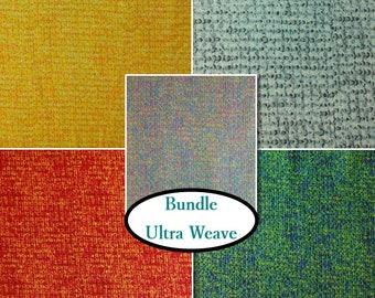 Bundle, 5 prints, Weave, quilt cotton, cotton designer, 100% cotton