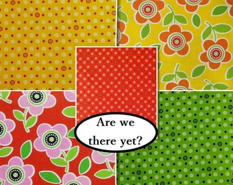50%, Bundle, 5 prints, Are we there yet?, Henry Glass & Co, quilt cotton, cotton designer, (Reg 18.80-30.60)