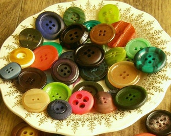22-30mm, 12 buttons, Vintage, chic, colors various, 2 and 4 holes, photo example, BM112