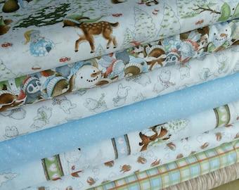 Bundle, 8 motifs, Snow Day, Timeless Treasures, quilt cotton