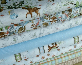 Bundle, 8 motifs, Snow Day, Timeless Treasures
