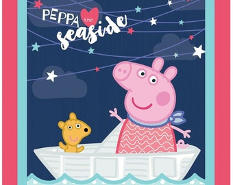 "Panel, 36 ""X44"", Peppa Pig, Springs Creative, CP66290, Cotton, Quilting,"