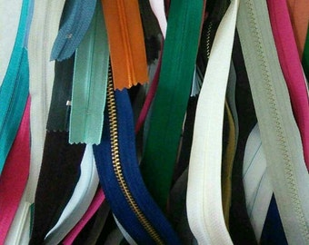 50 zippers, little and big, varied color, varied size,not detachable, invisible and detachable, (Reg 150.00)