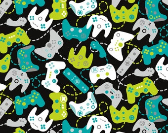 Controllers, Bali, 2710701, col 01, Game On,Camelot Fabrics, 100% Cotton