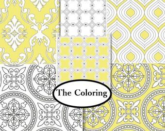 Bundle, 6 prints, The Coloring, Camelot Fabrics, 100% cotton