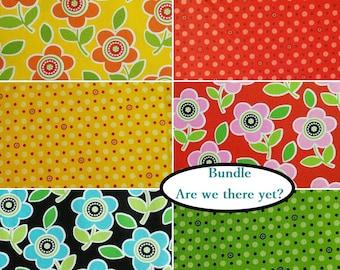 Bundle, 6 prints, Are we there yet?, Henry Glass & Co, quilt cotton, cotton designer, 100% cotton