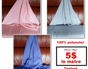 Polyester, textured, lightweight, for garment, costume, decoration, curtain, polyester, washable, sold by the meter