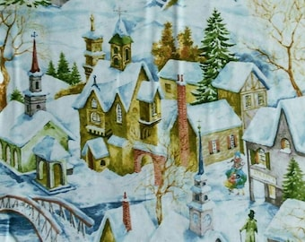 Winter Village, Holiday, Timeless Treasures, 6952, fabric, cotton, quilt cotton