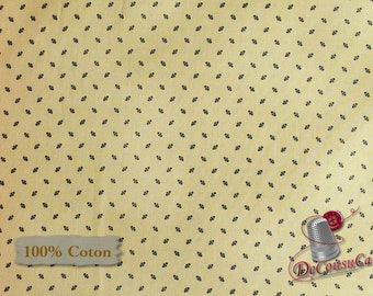 Navy, tan, St-Louis, 26840, Washington Street Studio, multiple quantity cut in one piece, 100% Cotton, (Reg 2.99-17.99)