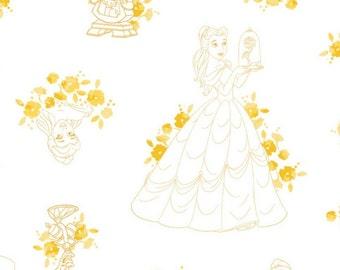 Disney Forever, Princess, The beast, 85100514, col 01, Camelot Fabrics, cotton, cotton quilt, cotton designer