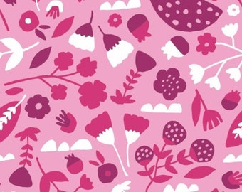 Flowers in pink, 31170104, col 02, Neighbourhood, Camelot Fabrics, 100% Cotton, (Reg 2.99-17.99)