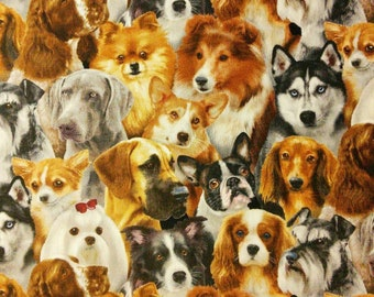 Dog, Elizabeth's Studio, 1314, multiple quantity cut in one piece, 100% Cotton, (Reg 2.99 - 17.99)