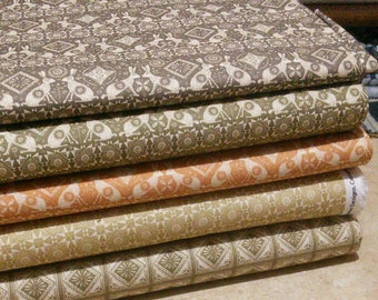 Bundle, 5 prints, Home on the Prairie of Camelot Fabrics, Quilt cotton