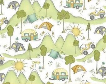Camping, caravan, 50629, Windham Fabrics, cotton quilt, cotton designer