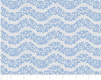The Alchemy, Wave, 2143306, col 02, Camelot Fabrics, blue, multiple quantity cut in one piece, 100% Cotton